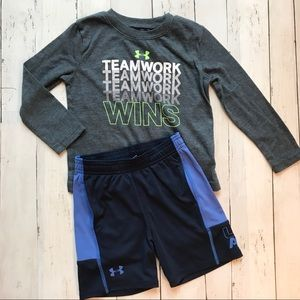 Under Armour Toddler Athletic Shirt and Short Set